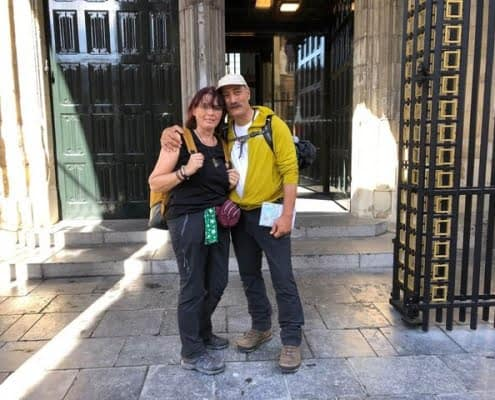 Sylvain en Katalin, pelgrims van de Walk of Wisdom
